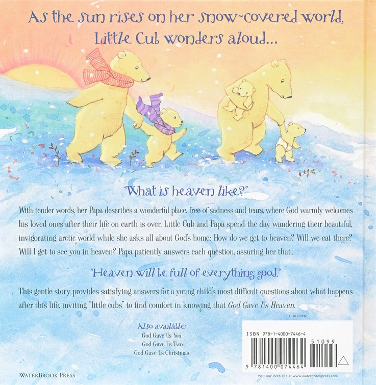 god gave us heaven lisa tawn bergren 9781400074464 christianbookcom