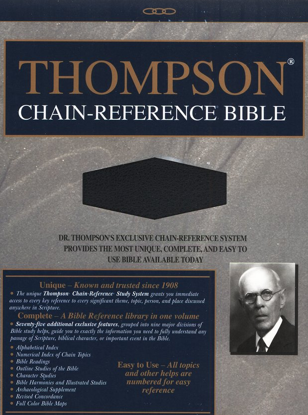 KJV Thompson Chain-Reference Bible, Blue Bonded Leather