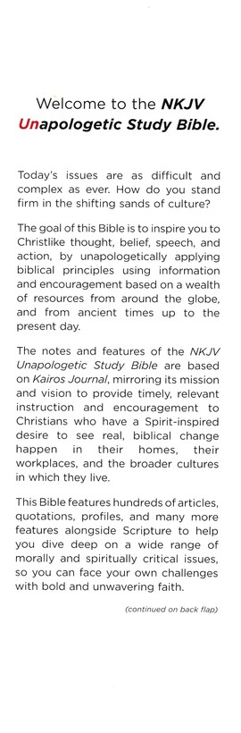 NKJV Unapologetic Study Bible, Hardcover