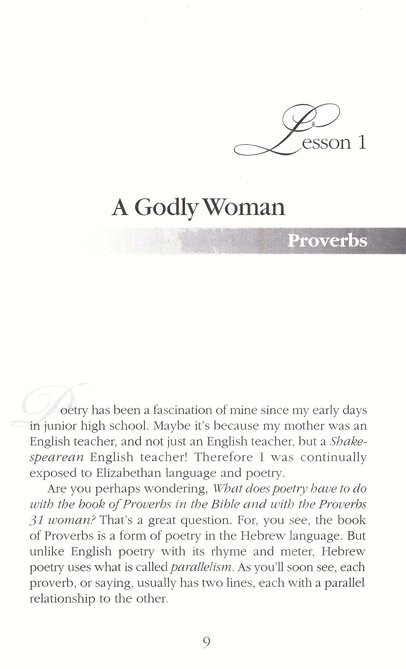 Discovering the Treasures of a Godly Woman: A Woman After God's  Own Heart Series, Proverbs 31