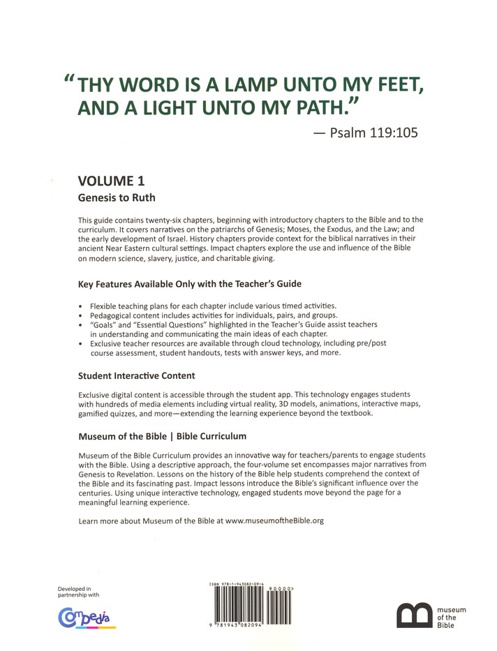 Museum of the Bible Bible Curriculum Volume 1: Genesis to Ruth Teacher's  Guide