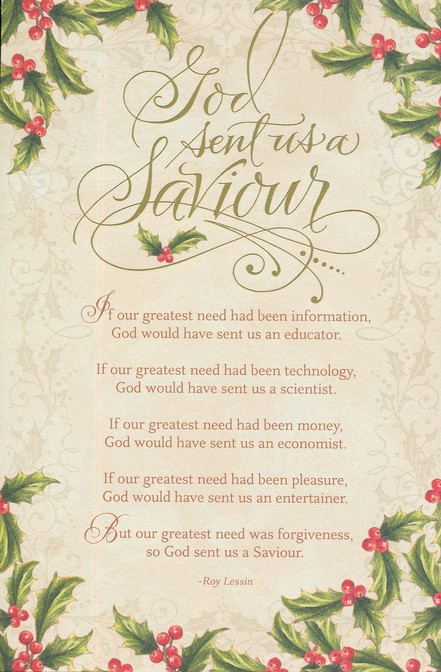 Dayspring Christmas Cards.God Sent Us A Saviour Christmas Cards Box Of 18