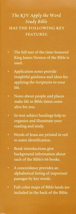 KJV Apply the Word Study Bible, Large Print, Hardcover