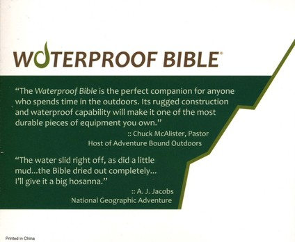 KJV Waterproof Bible, Camouflage