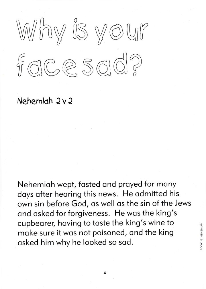 Bible Colour and Learn: 10 The Story of Nehemiah