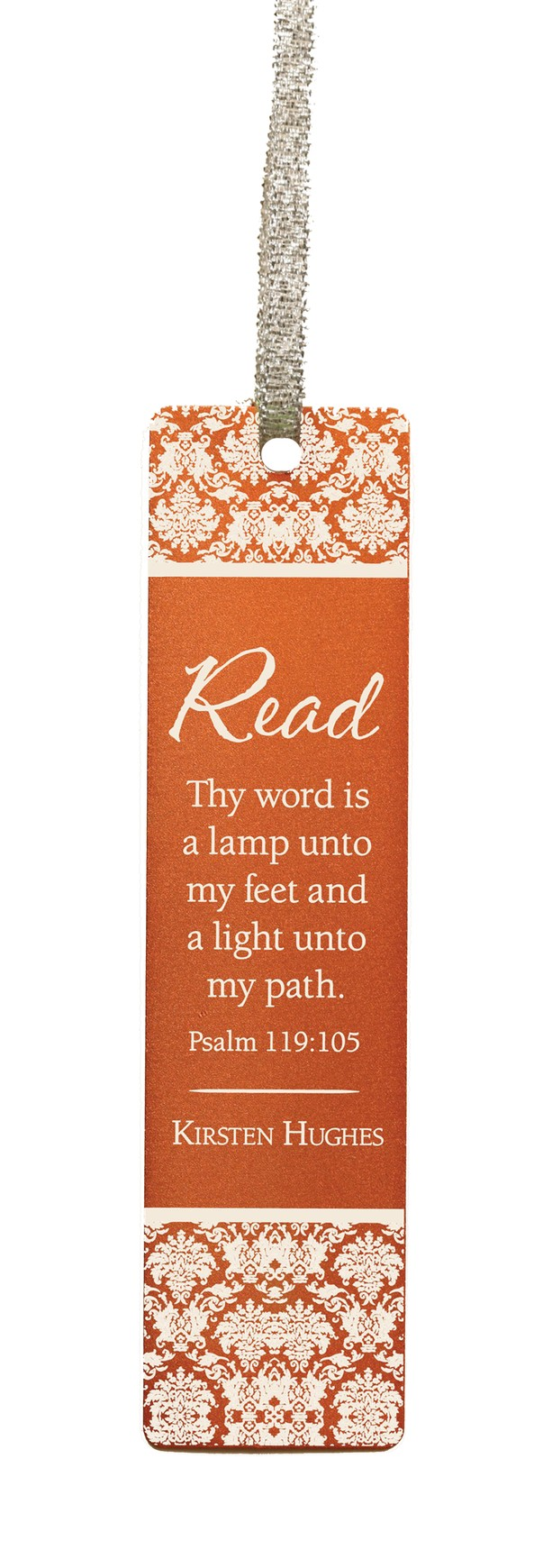 Personalized, Thy Word Aluminum Bookmark, Orange
