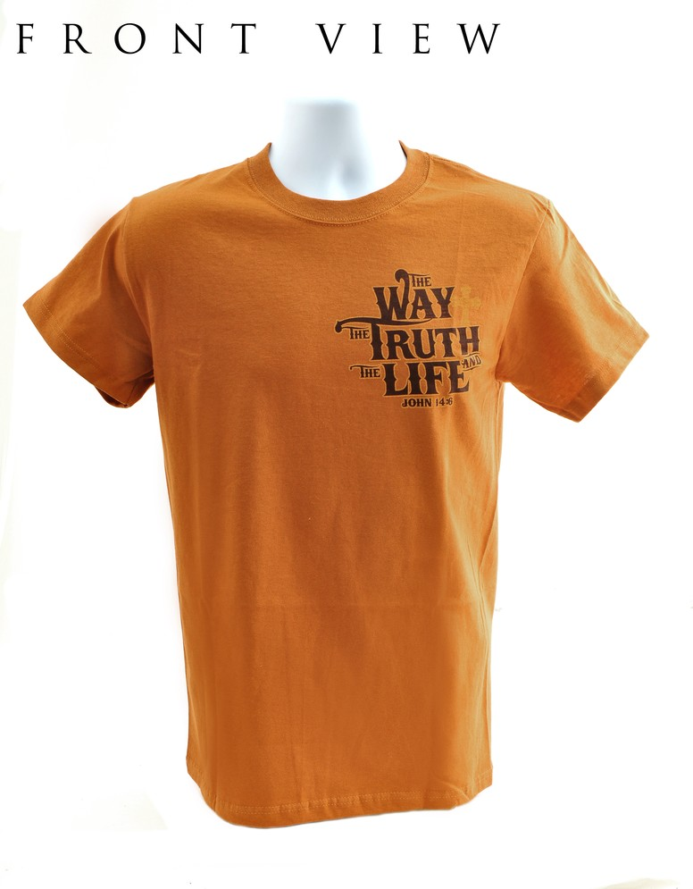 The Way, The Truth, The Life Shirt, Orange, Small