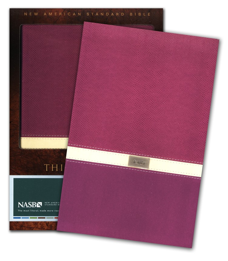 New American Standard Bible, Thinline Bible, Italian Duo-Tone, Orchid/Butter Cream