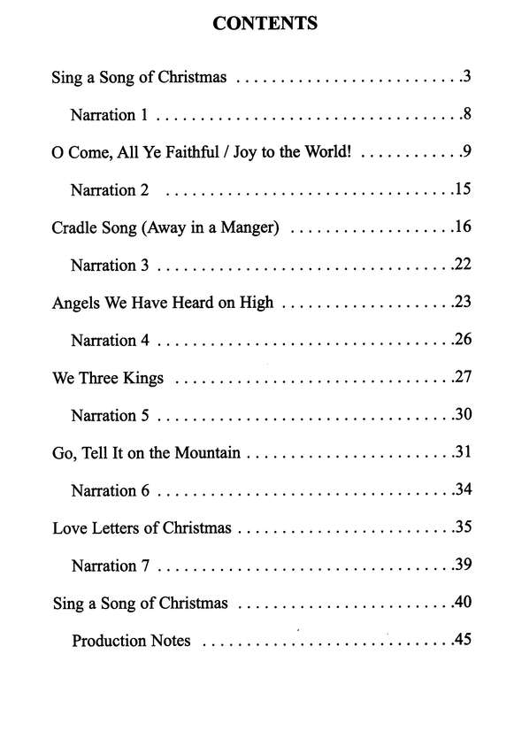 Sing A Song Of Christmas: A Simple Christmas Musical For Kids ...