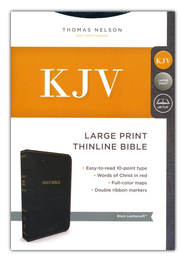 nkjv reference bible compact large print leathersoft brown red letter edition