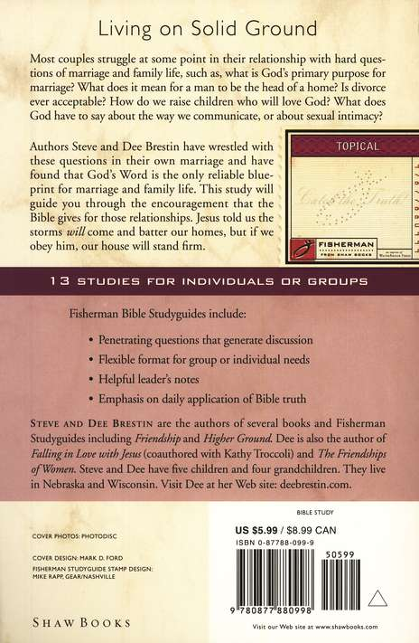 Build Your House on the Lord: A Firm Foundation for Family Life, Fisherman Bible Studyguides