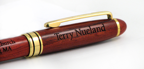Personalized Rosewood Pen with Name and Message