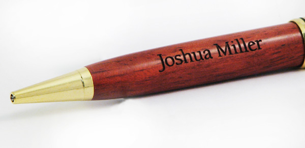 Personalized Rosewood Pen with Name and Cross