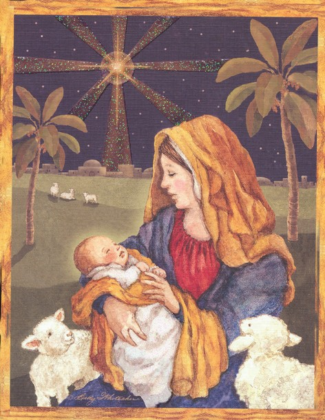 Beautiful Religious Christmas Cards.Mother And Child Christmas Cards Box Of 18