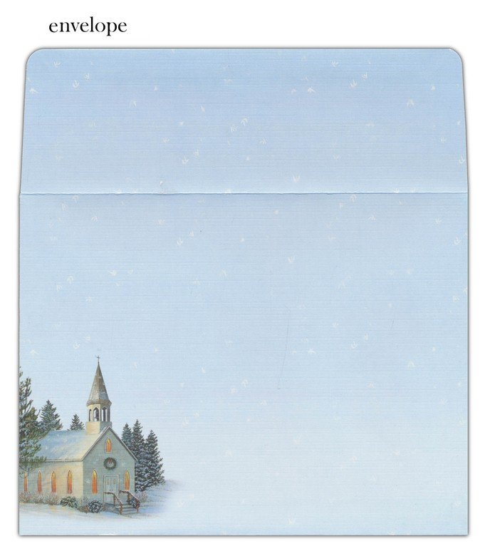 Church, Country Cheer Christmas Cards, Box of 18: Sam Timm ...
