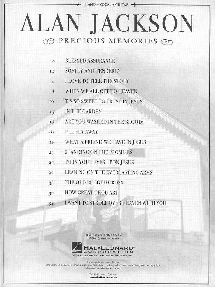 Precious Memories (Piano/Vocal/Guitar)