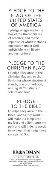 Pledges to the Bible and Flags, Bookmarks, 25