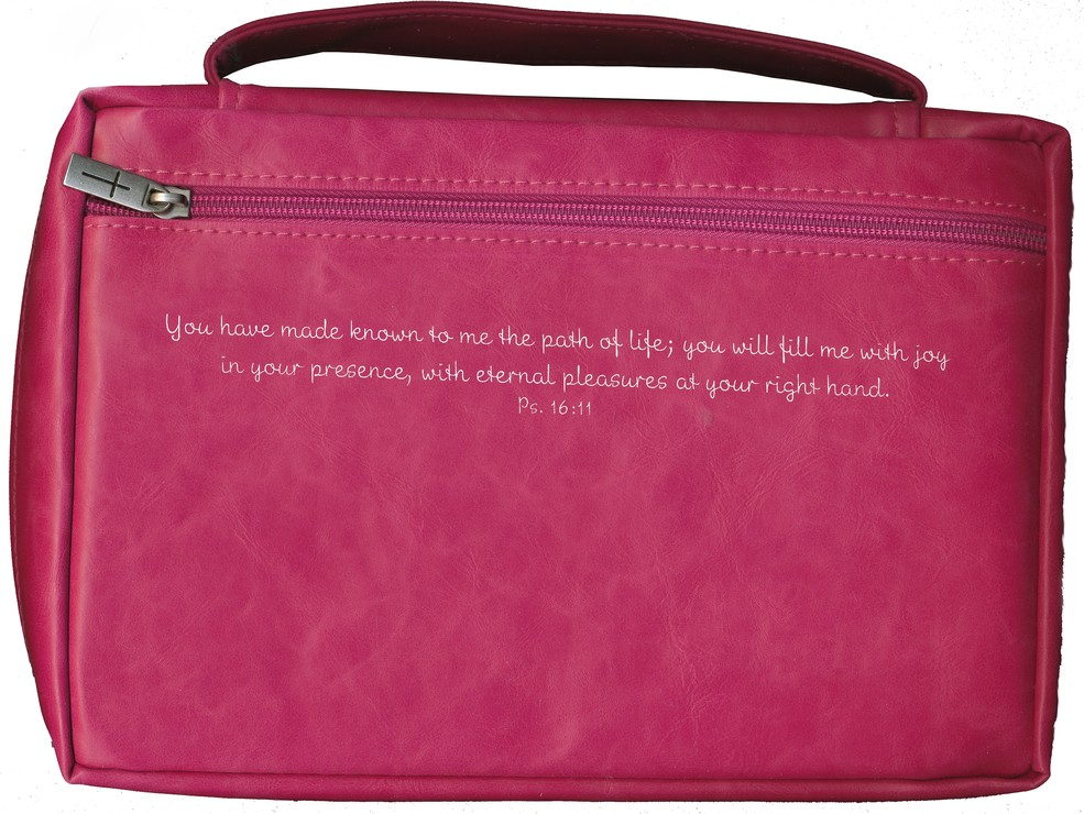 Joy Applique Bible Cover, Pink, Medium