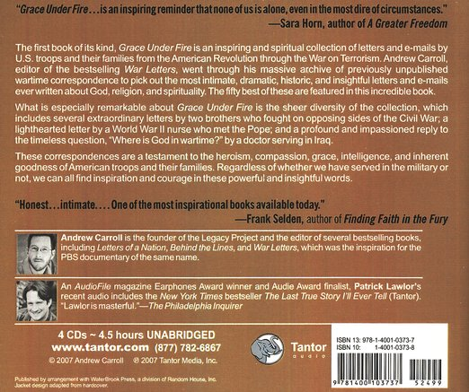 Grace Under Fire, audiobook on CD
