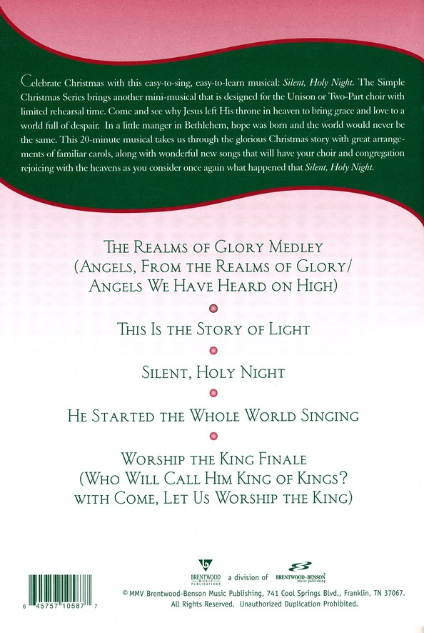 Silent, Holy Night (Choral Book)
