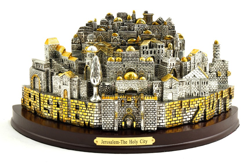 Jerusalem: The Holy City Statue, Silver Plated