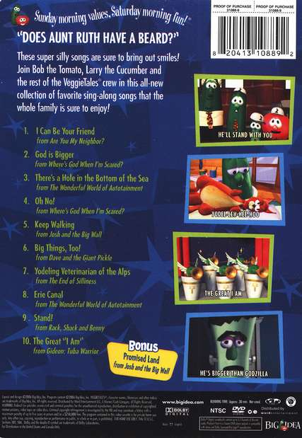I Can Be Your Friend, VeggieTales Sing-Alongs DVD