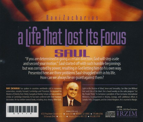 A Life That Lost It's Focus: Saul - CD
