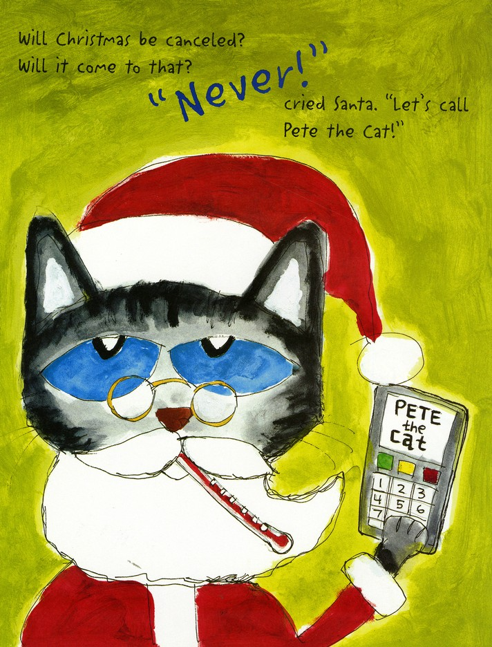 Pete The Cat Christmas.Pete The Cat Saves Christmas Library Binding