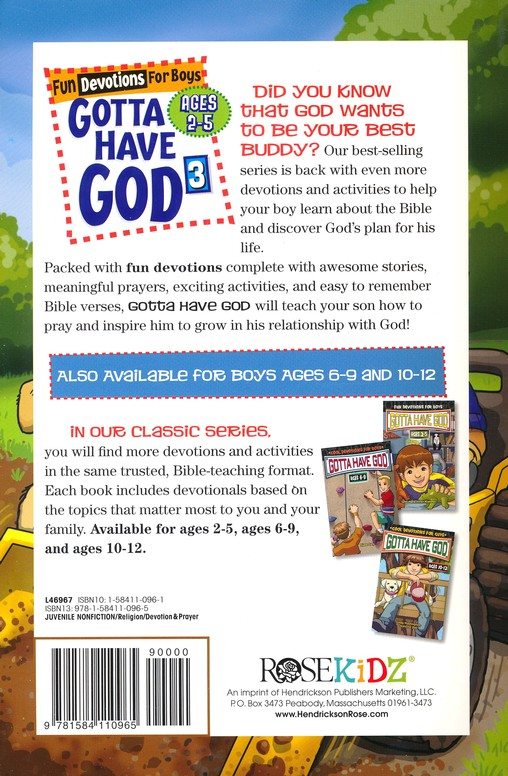 Gotta Have God 3: Fun Devotions for Boys - Ages 2-5