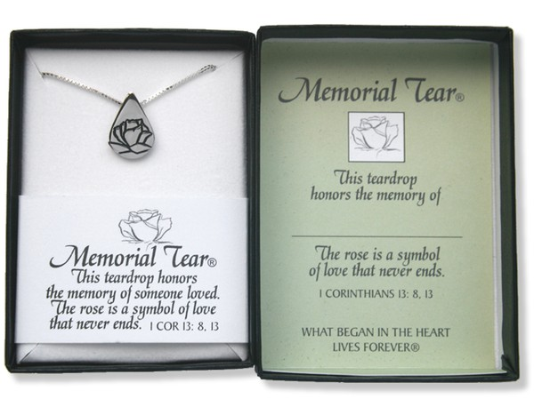 Memorial Tear, Sterling Silver Pendant