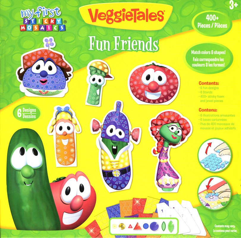 VeggieTales &#174 My First Sticky Mosaics&#174 Fun Friends