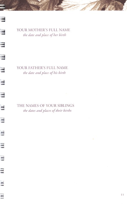Keepsake to fill in by dad A Fathers Legacy Journal Dad Tell Me Your Story