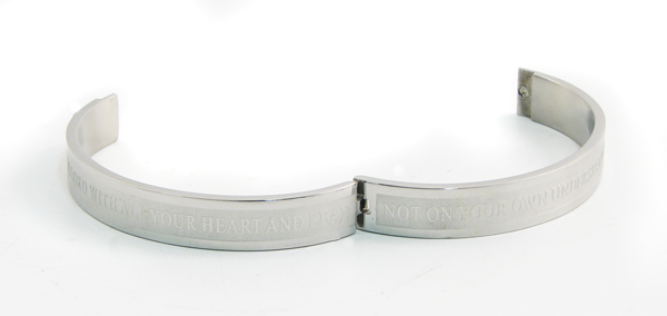 Bangle Bracelet, 7 Inch, Proverbs 3:5