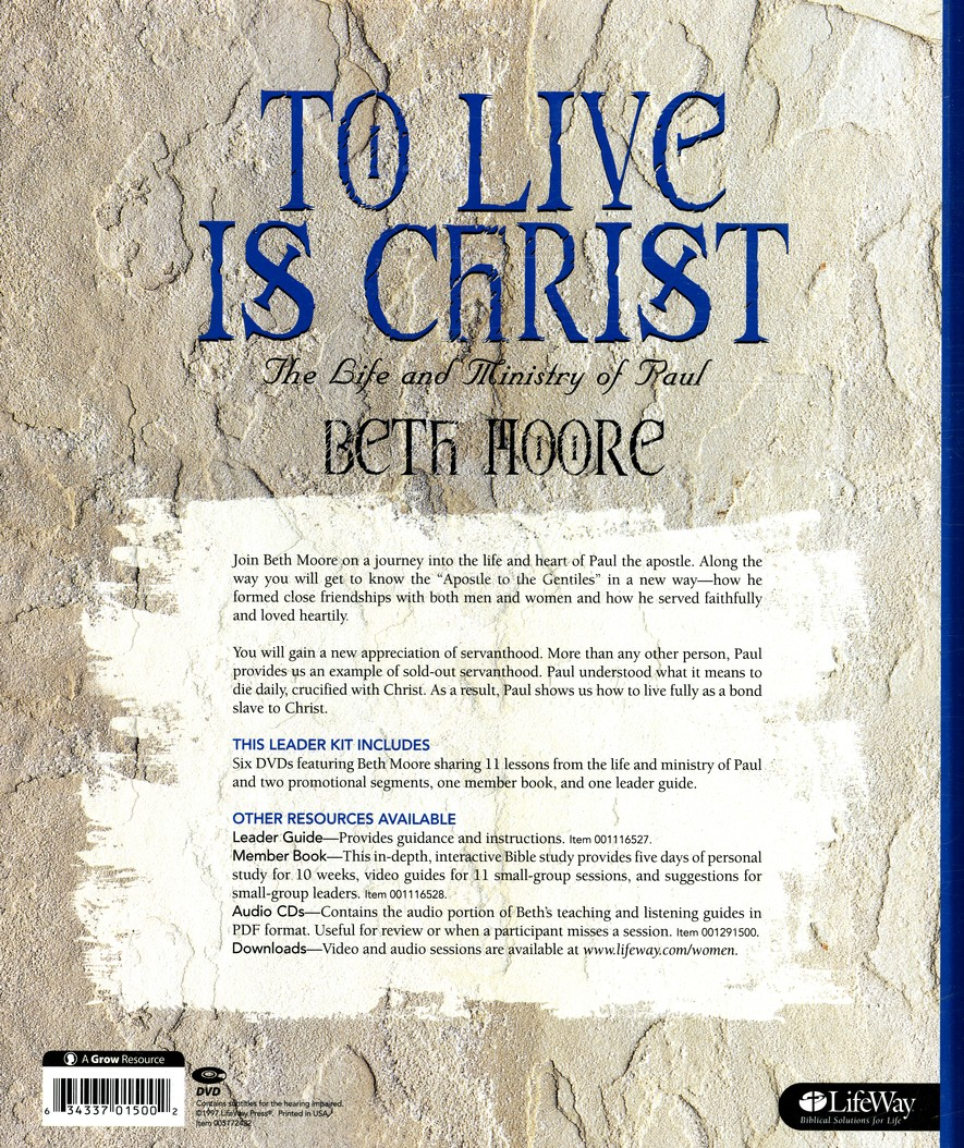 To Live Is Christ: The Life and Ministry of Paul - Leader Kit