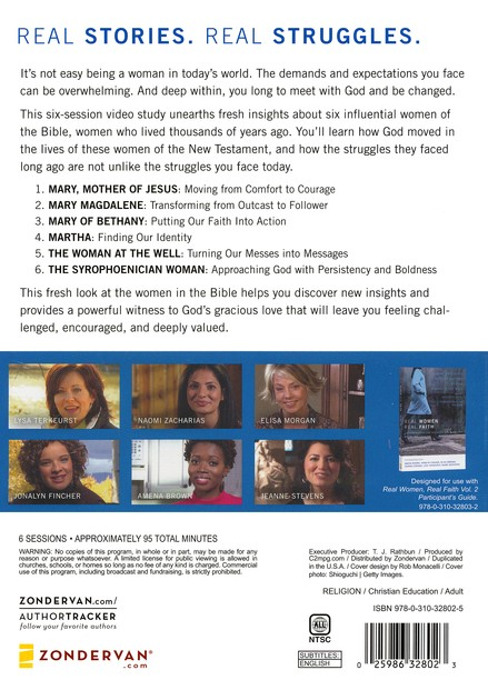 Real Women, Real Faith, Volume 2: Life-Changing Stories from the Bible for Women Today--DVD
