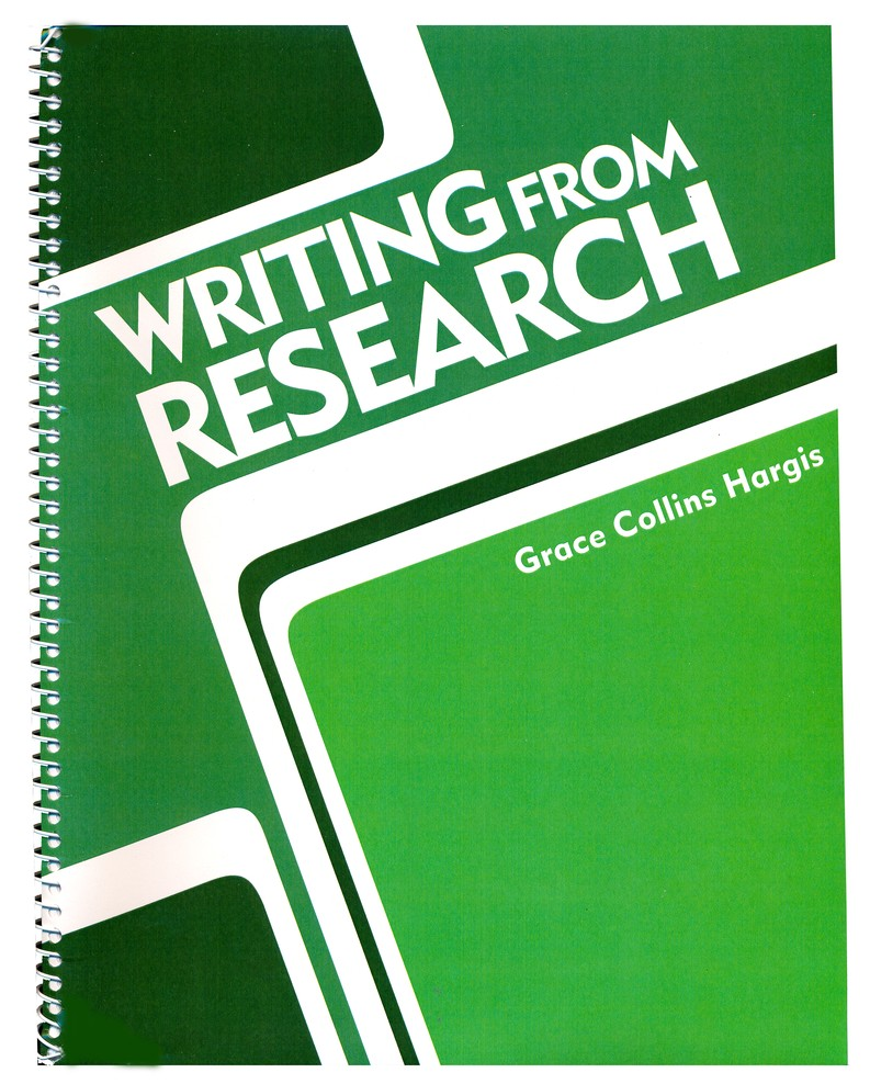 BJU Writing from Research Teacher's Edition Grades 7-12