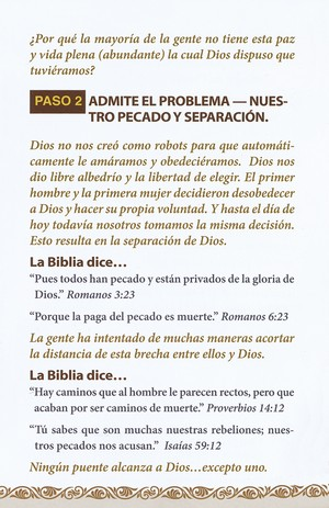 Pasos para Tener Paz con Dios, 25 Tratados  (Steps to Peace with God, 25 Tracts)
