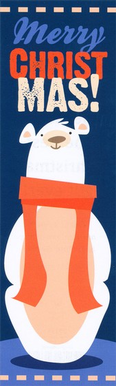 Christmas Polar Bear (Luke 2:11, NIV) Bookmarks, 25