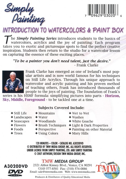 Simply Painting: Introduction to Watercolors & Paint Box DVD