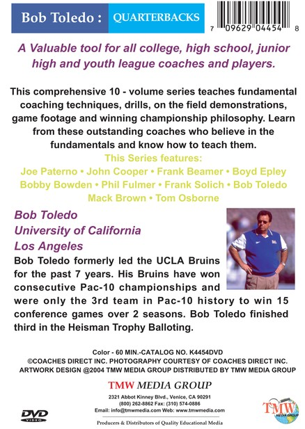 Bob Toledo: Quarterbacks DVD