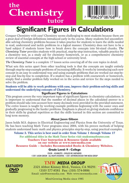 Significant Figures in Calculations DVD