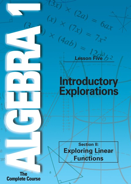 Algebra 1 - The Complete Course: Introductory Explorations DVD