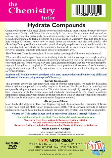 Hydrate Compounds DVD