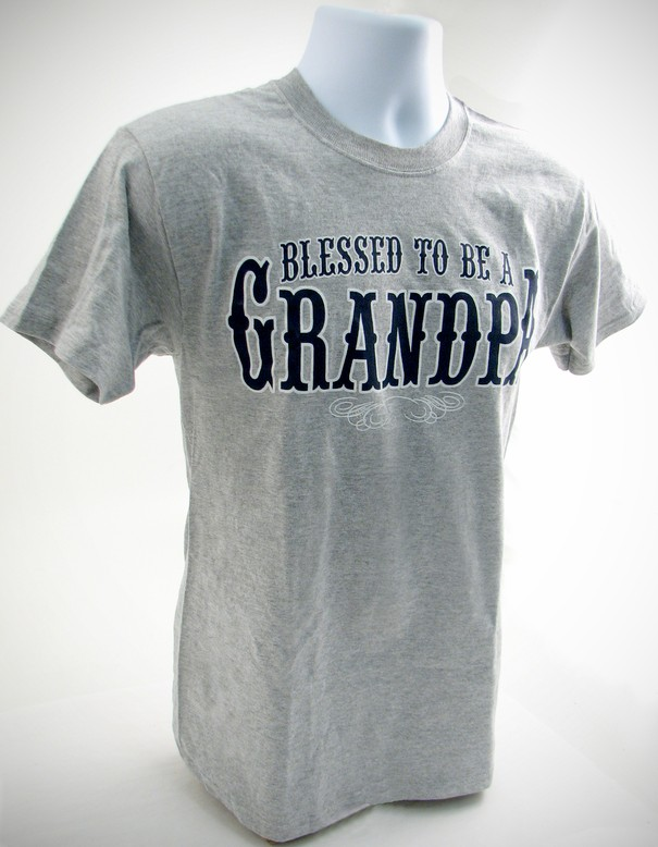 Blessed to Be A Grandpa, X-Large Tee Shirt