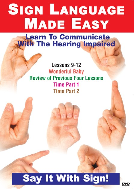 Sign Language Series Lessons 9-12: Days, Weeks, Years & Seasons DVD