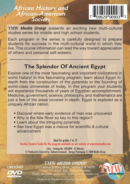 The Splendor of Ancient Egypt DVD