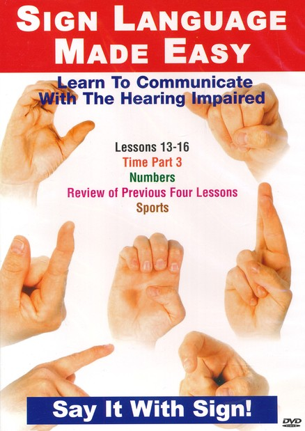 Sign Language Series Lessons 13-16: Time, Numbers & Sports DVD