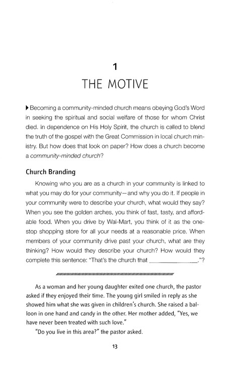 The Community-Minded Church: Resources for Connecting with the World Outside Your Walls