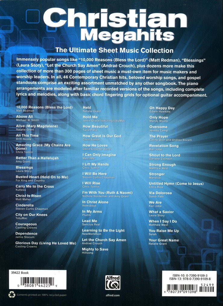 Christian Megahits The Ultimate Sheet Music Collection Piano