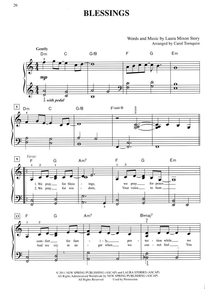 Top 50 Praise Worship Easy Piano Sheet Music Carol Tornquist
